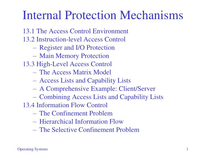 internal protection mechanisms n.