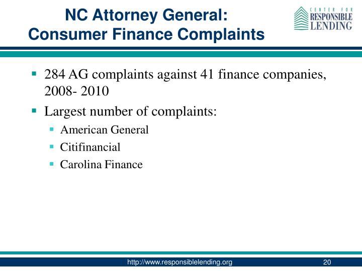 NC Attorney General: