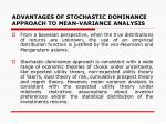 advantages of stochastic dominance approach to mean variance analysis1
