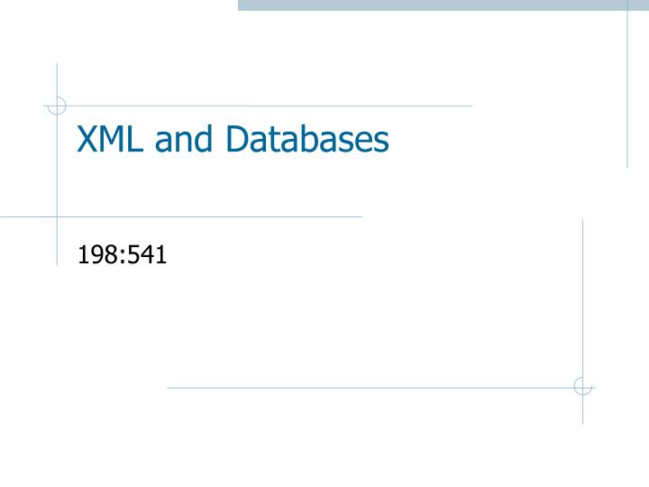 xml and databases n.
