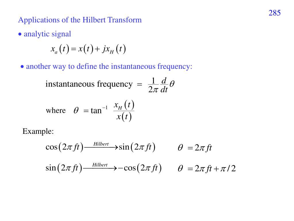 PPT - I X  Hilbert Huang Transform (HHT) PowerPoint