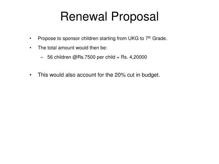 Renewal Proposal
