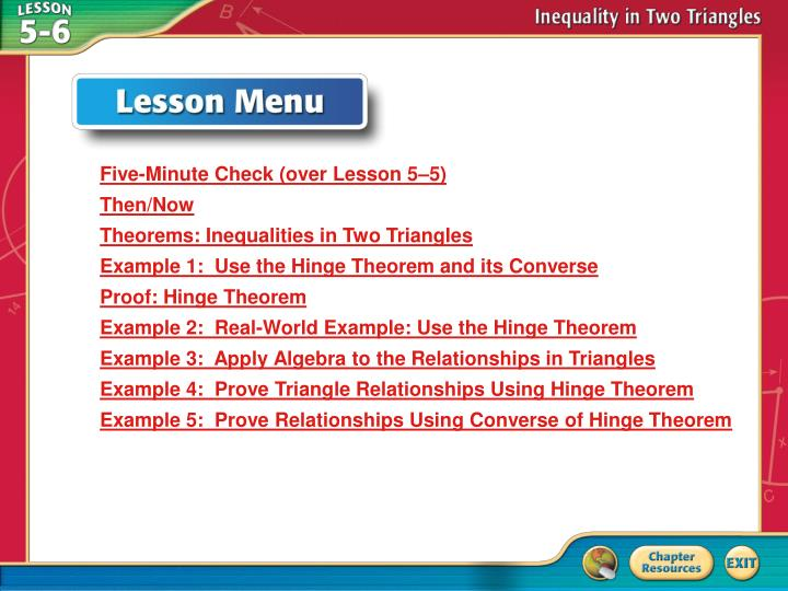 PPT - Lesson Menu PowerPoint Presentation - ID:5493474