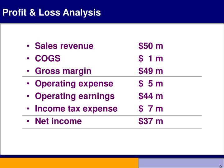 Profit & Loss Analysis
