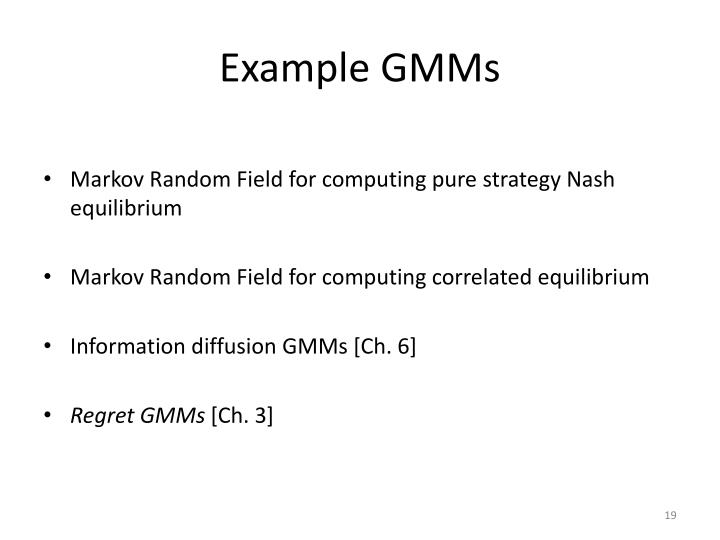 Example GMMs