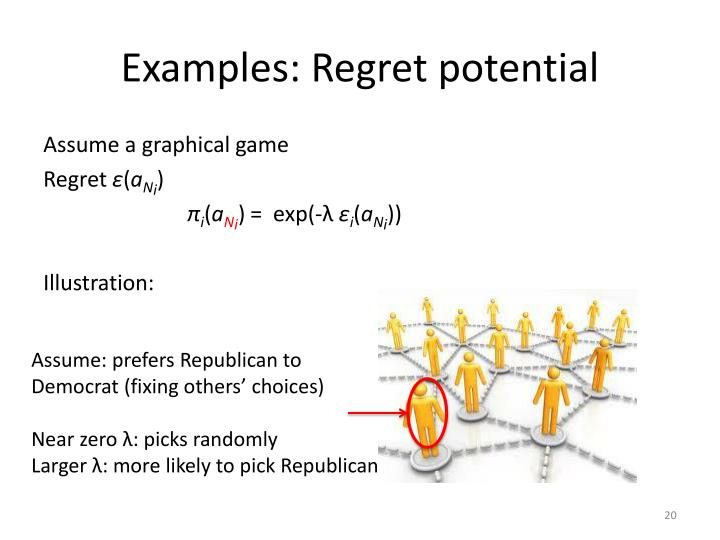 Examples: Regret potential