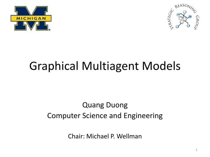 Graphical multiagent models