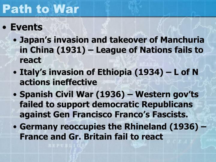 Path to war1