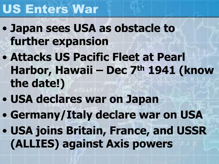 US Enters War