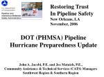 dot phmsa pipeline hurricane preparedness update