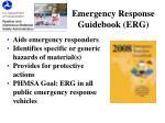 emergency response guidebook erg