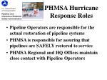 phmsa hurricane response roles