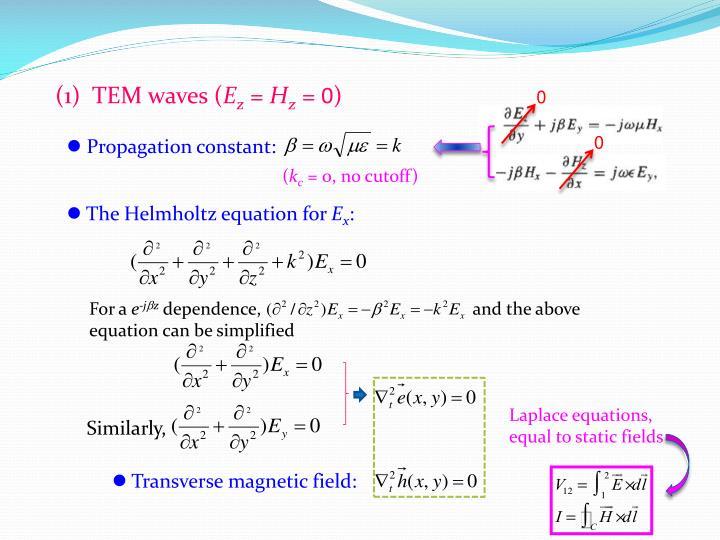 (1)  TEM waves (