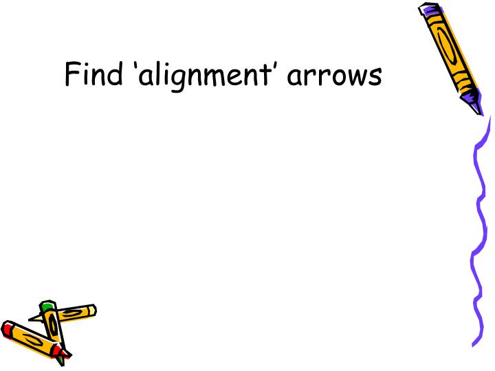 Find 'alignment