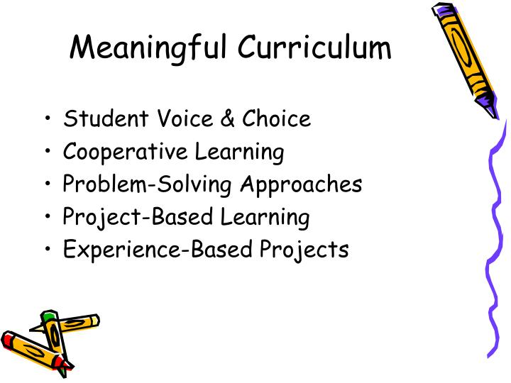 Meaningful Curriculum