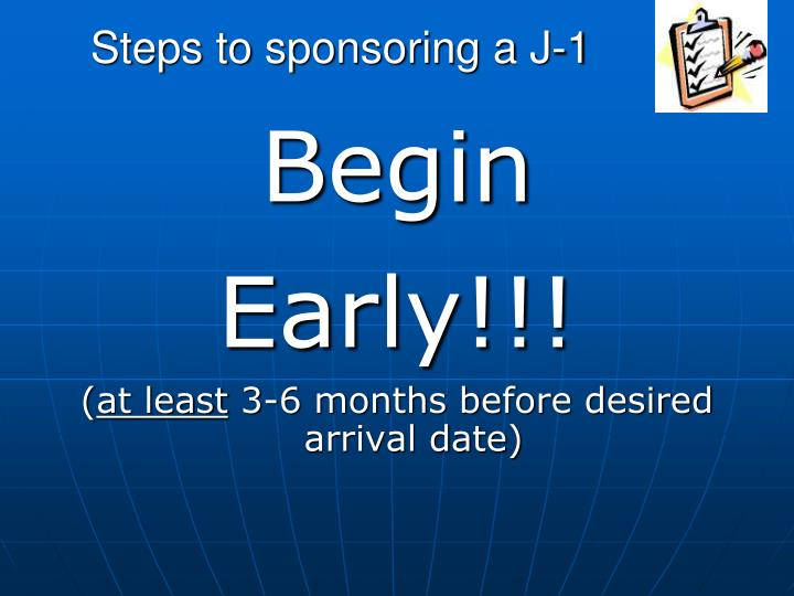 Steps to sponsoring a J-1