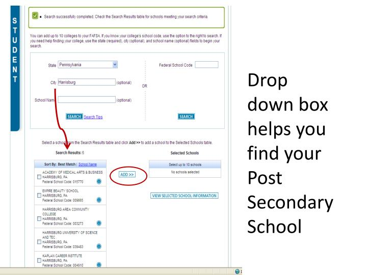Drop down box helps you find your Post