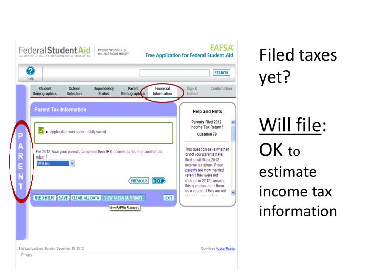 Filed taxes yet?