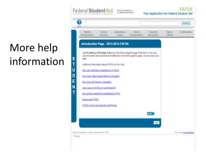 More help information