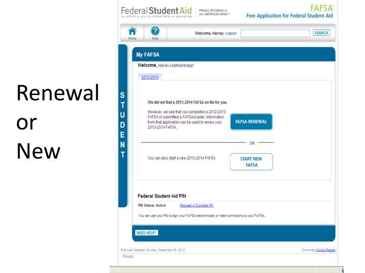 Renewal  or