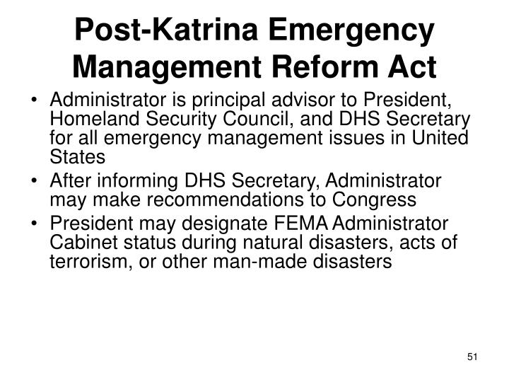 Post-Katrina Emergency Management Reform Act