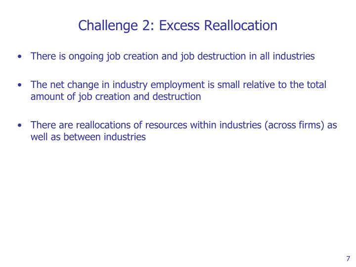 Challenge 2: Excess Reallocation