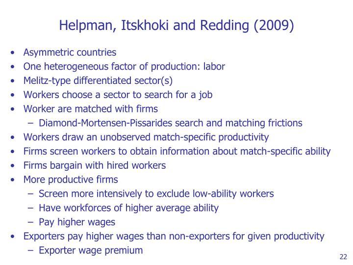 Helpman, Itskhoki and Redding (2009)