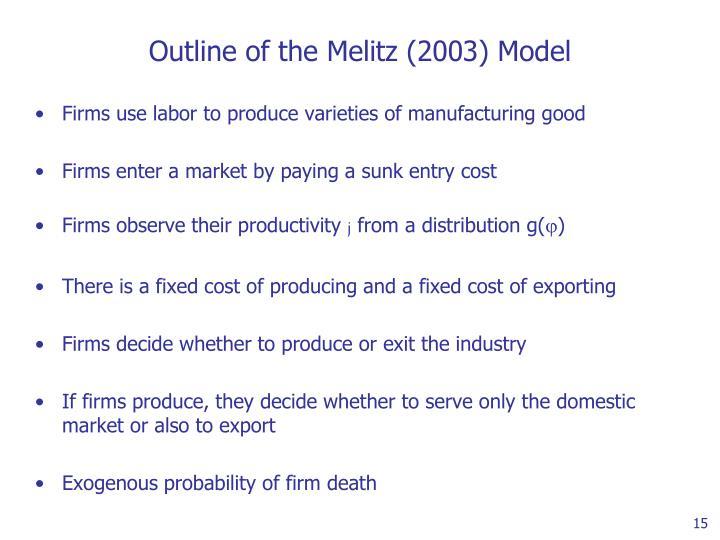 Outline of the Melitz (2003) Model