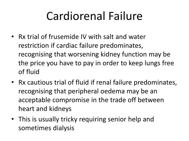 Cardiorenal Failure