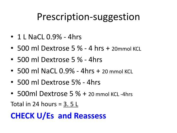 Prescription-suggestion