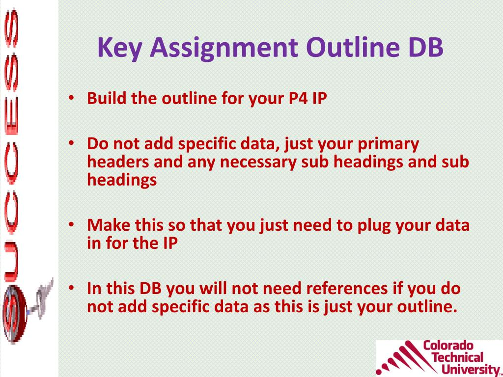 What Is A Key Assignment Outline