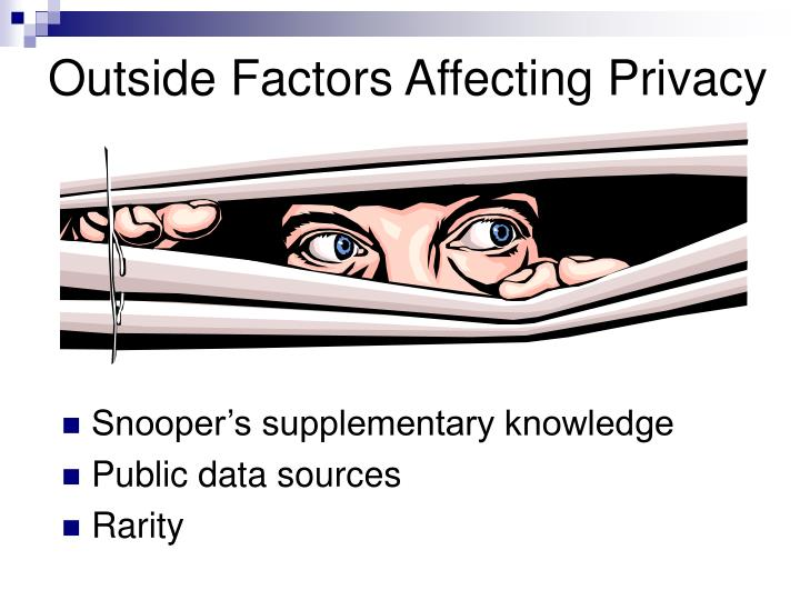Outside Factors Affecting Privacy
