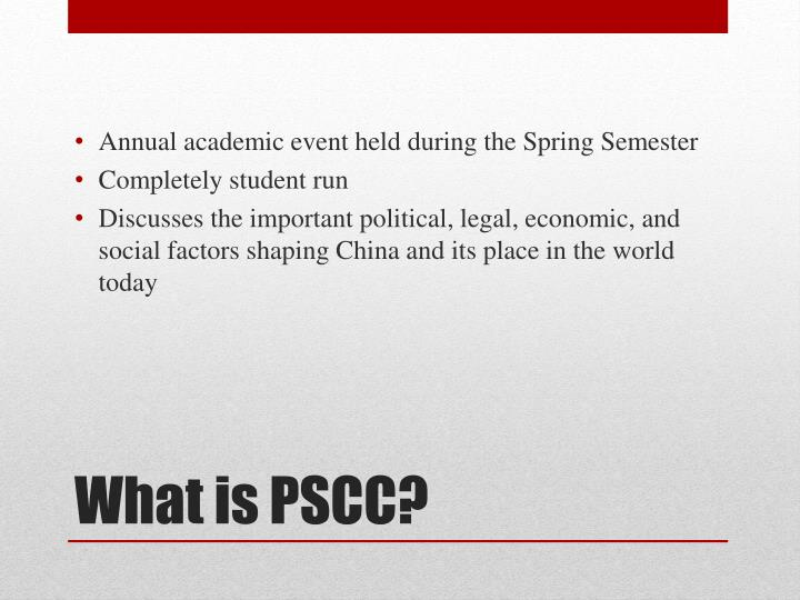 What is pscc