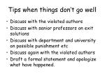 tips when things don t go well