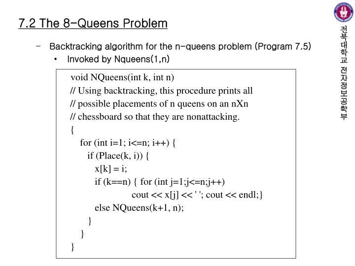 72 The 8 Queens Problem