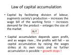 law of capital accumulation