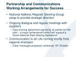 partnership and communications working arrangements for success