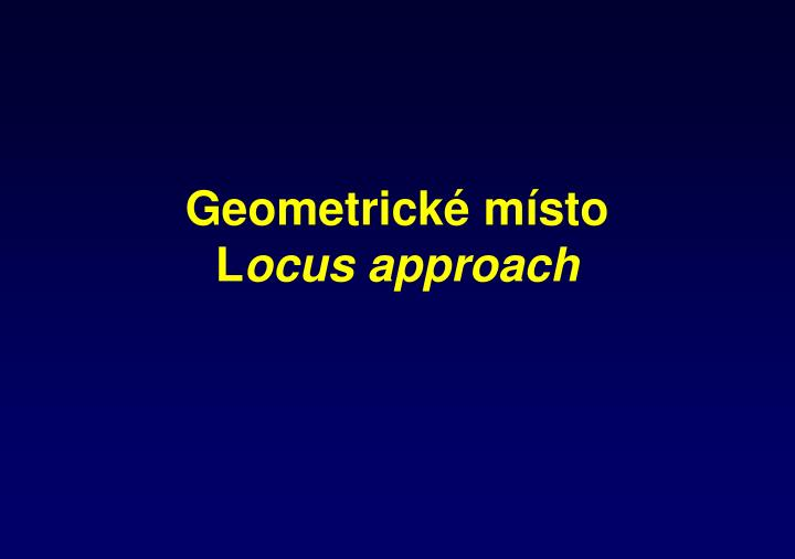 Geometrické místo