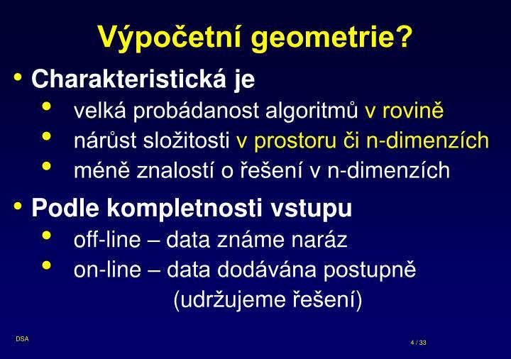 Výpočetní geometrie?