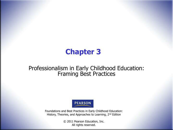 ppt professionalism in early childhood education framing best