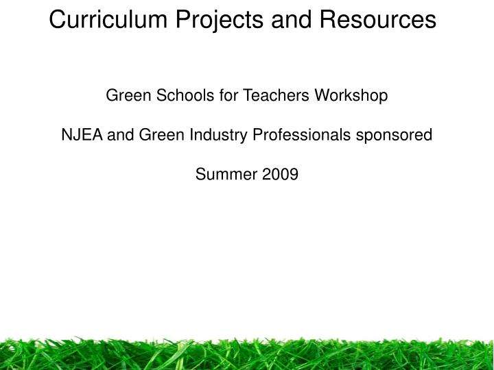 Curriculum Projects and Resources