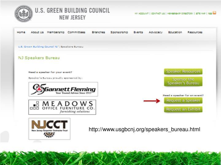 http://www.usgbcnj.org/speakers_bureau.html
