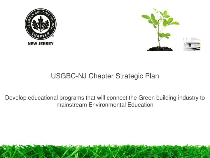 USGBC-NJ Chapter Strategic Plan