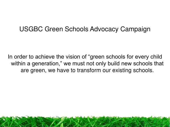 USGBC Green Schools Advocacy Campaign