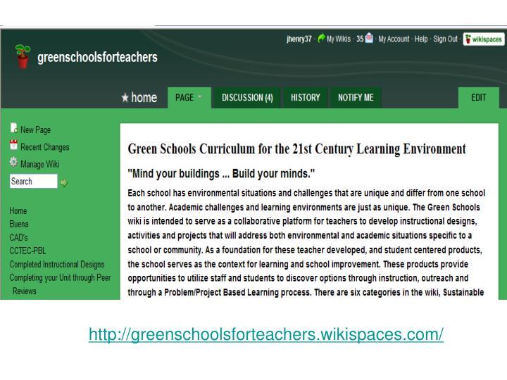 http://greenschoolsforteachers.wikispaces.com/