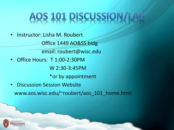 Aos 101 discussion lab
