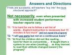 answers and directions1