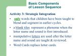basic components of lesson sequence2