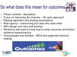 so what does this mean for outcomes