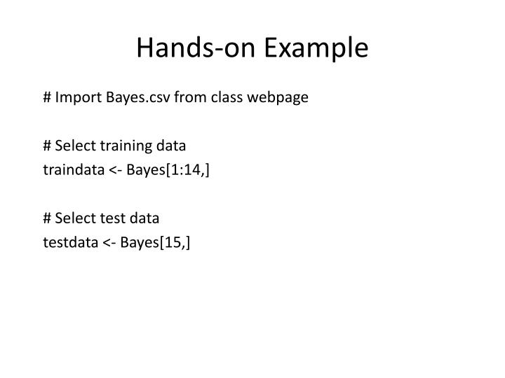 Hands-on Example